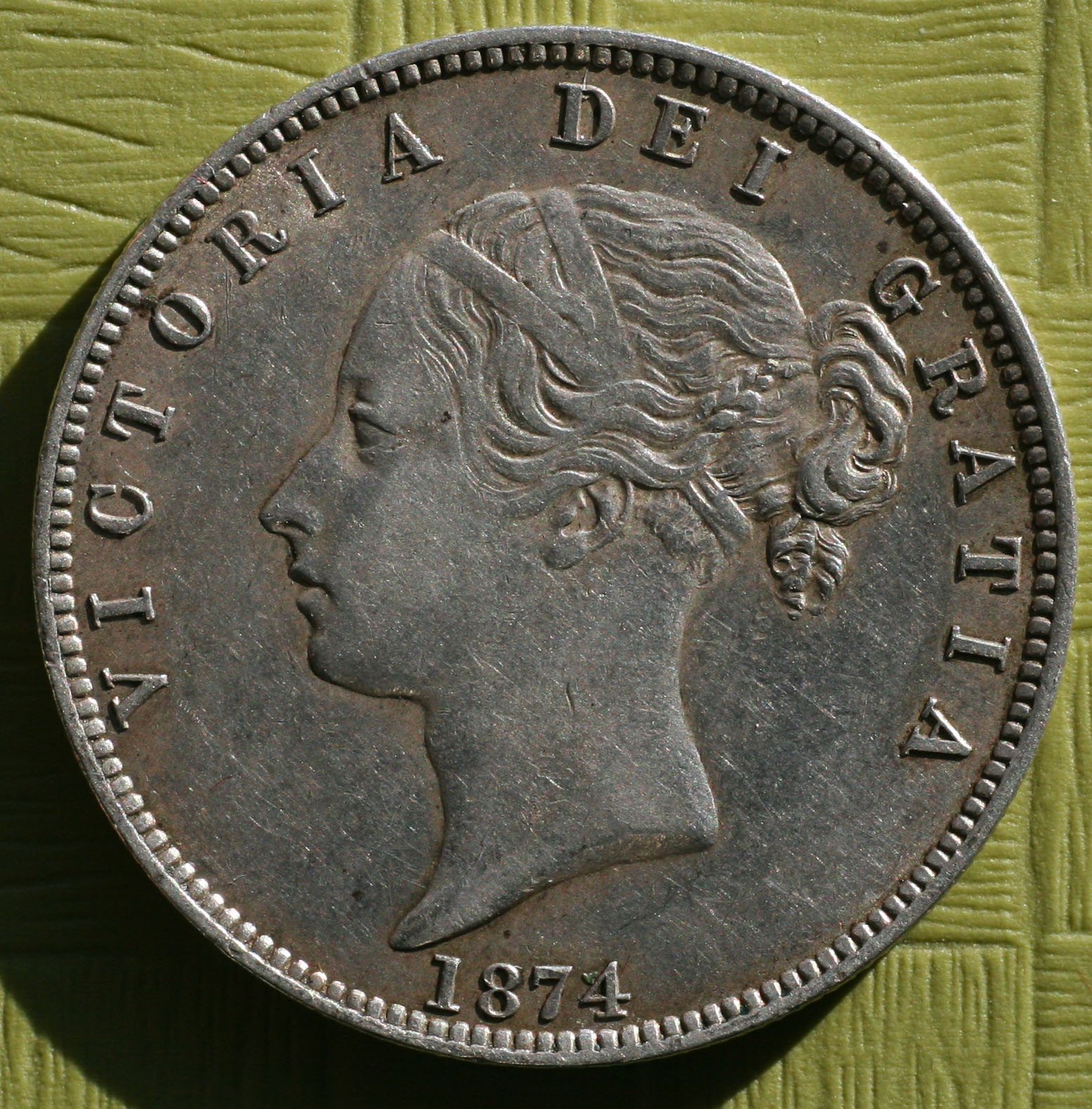 1874 Halfcrown. EF *REDUCED*